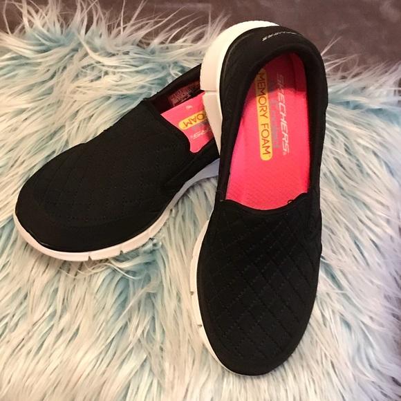 Skechers Shoes Air Cooled Memory Foam Ladies 75 Black